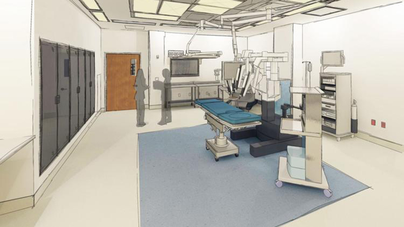 Surgical suite rendering