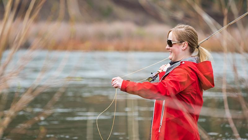 Lena Phelps, PA-C fishing